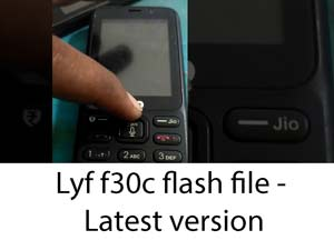 Lyf f30c flash file - Latest version